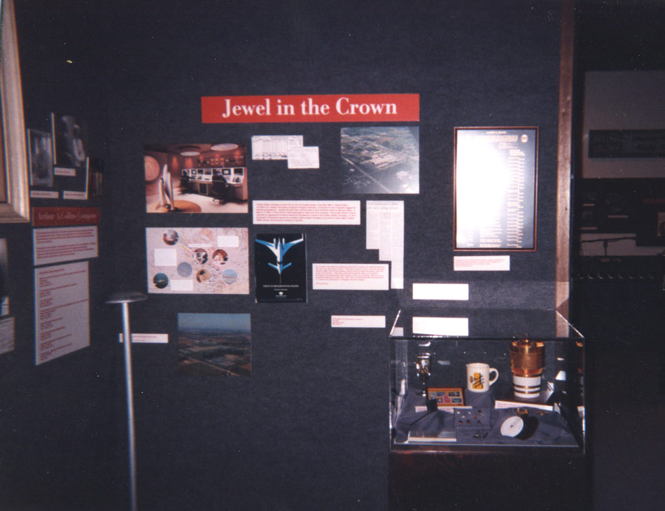 Part of Collins museum display and history