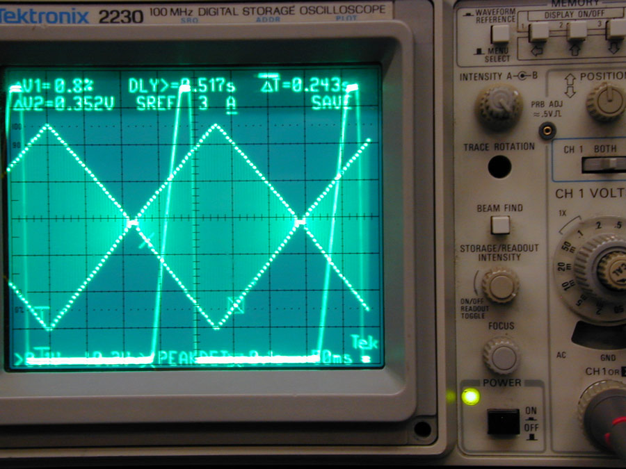 triangle wave 10 Hz response