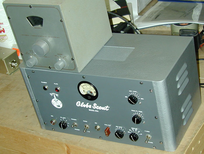 Globe Scout 65A and Heathkit VF1 VFO