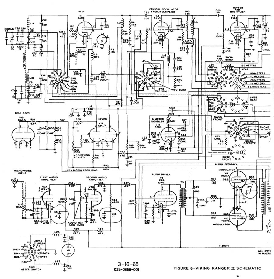 Ranger II audio schematic