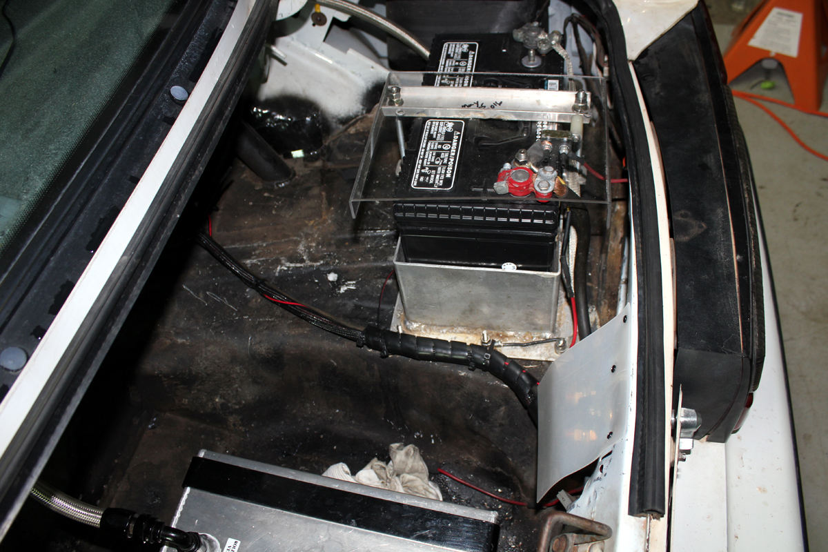 NHRA IHRA legal trunk battery