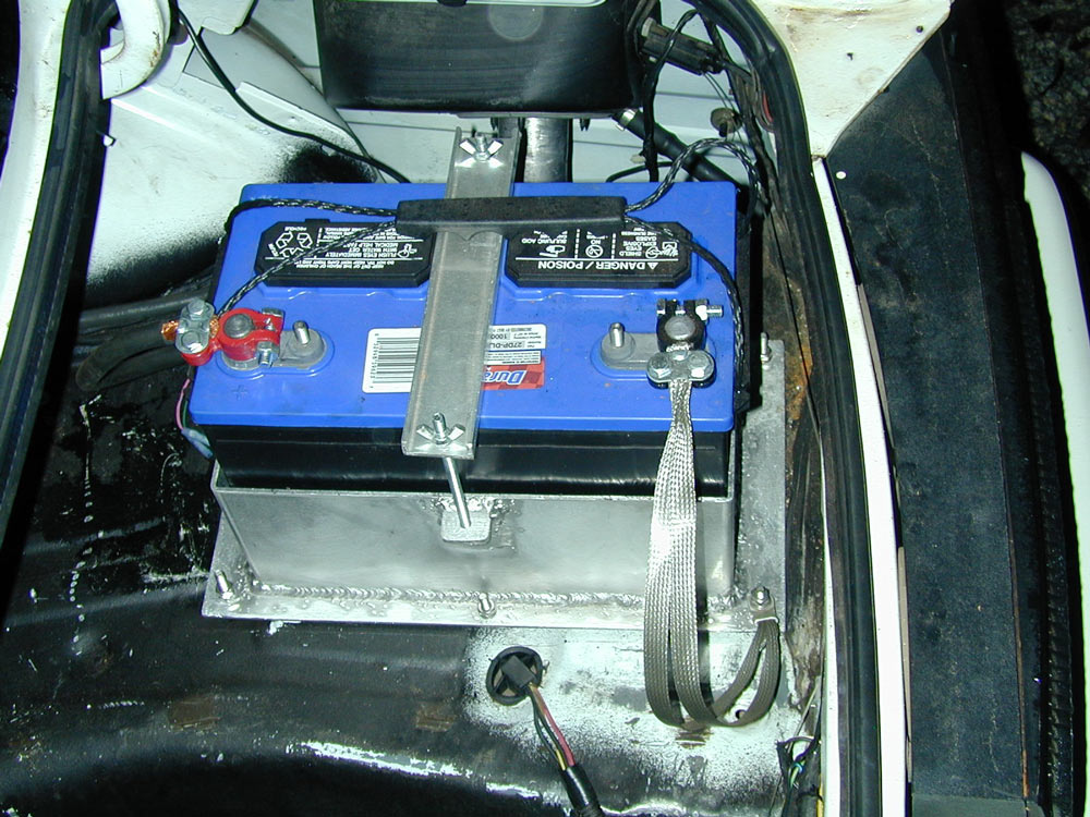 Trunk mounted battery homemade box