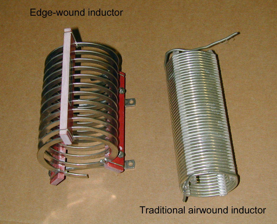 Edge wound and traditional air core inductors