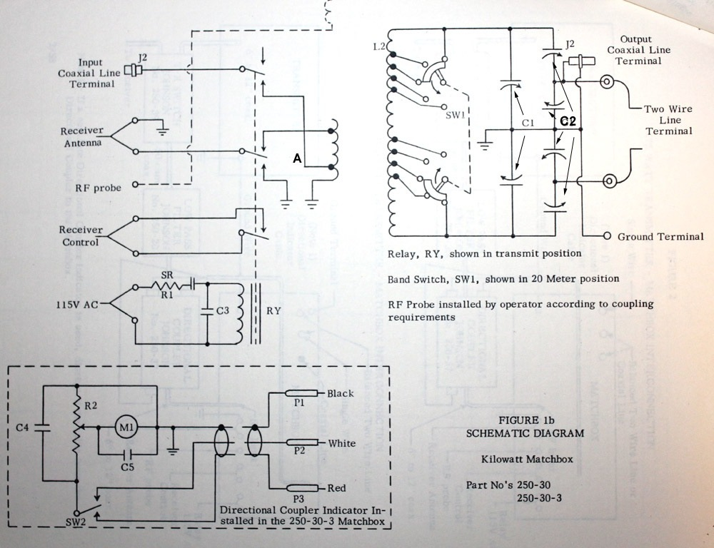 Antenna tuners on rotary switch schematic