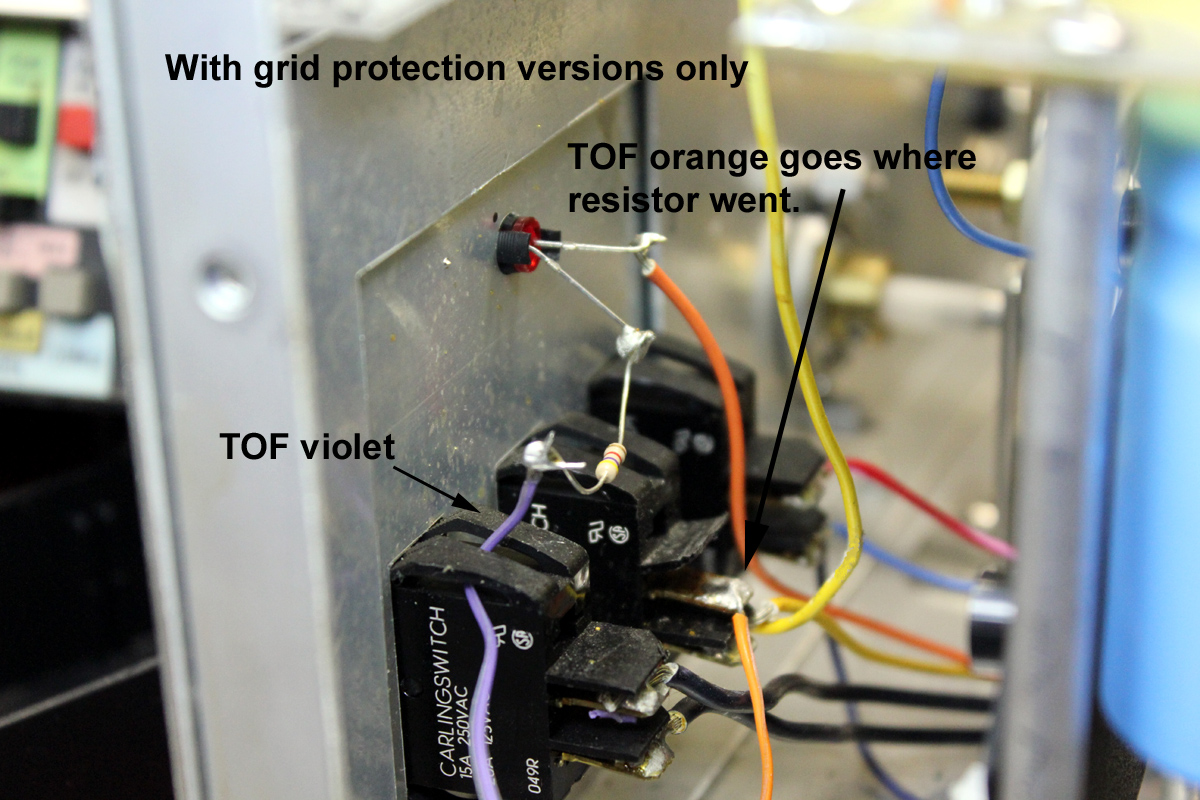 AL Series Install TOF And TOF With Grid Protect - Wiring a grid switch
