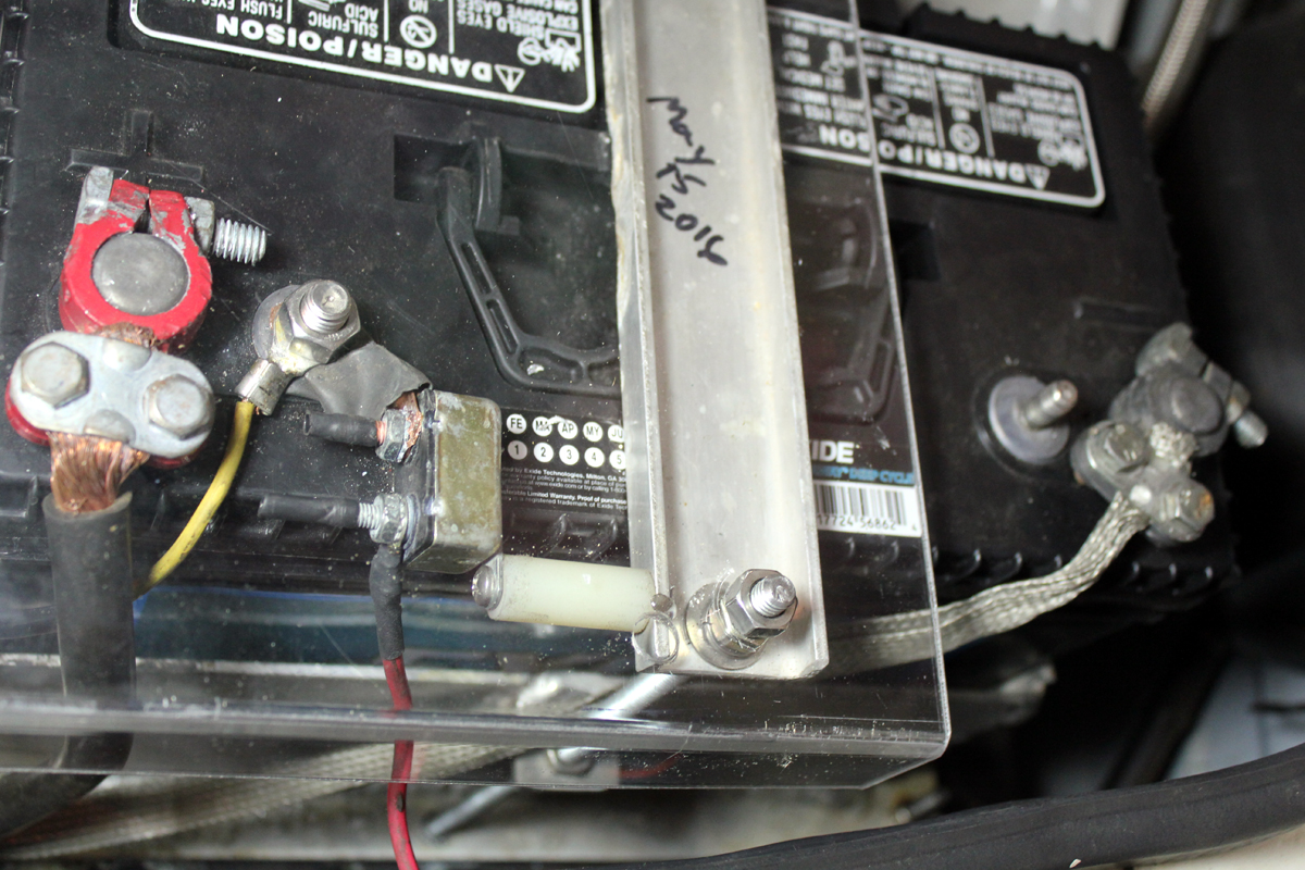 Battery Wiring In Place Notice The Small Current That Flows Circuit 1989 Lx White Lightning