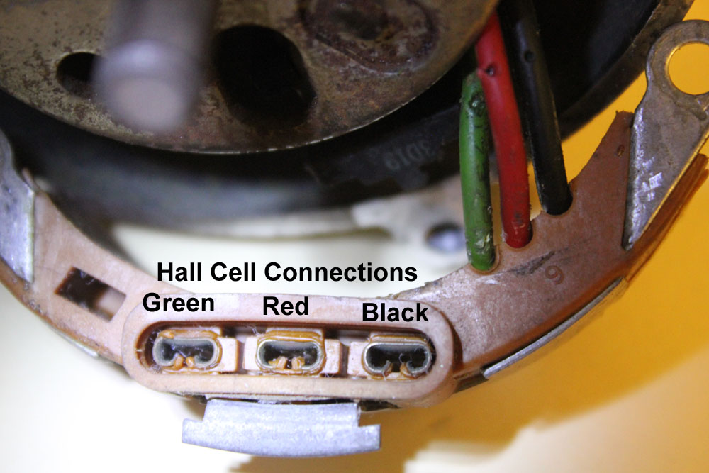 Hallcell pin connections to TFI module