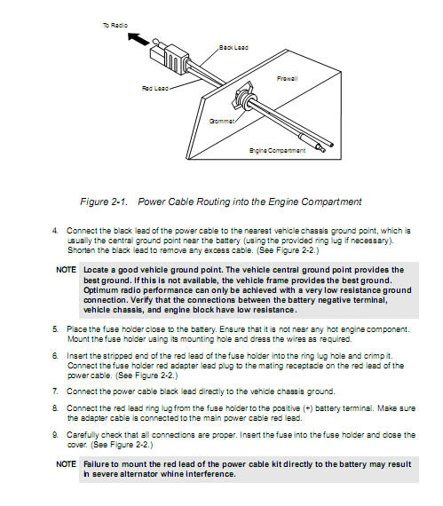 mobile radio wiring and grounding mobile radio grounding